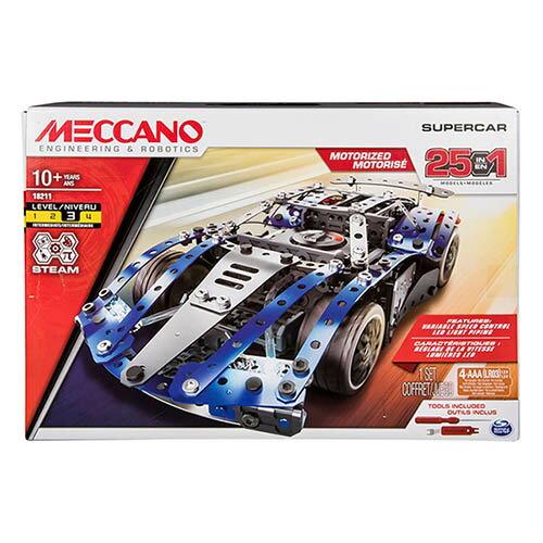 【Meccano】25合1超級跑車組