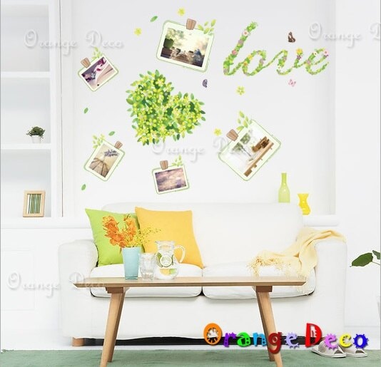 夜光愛心照片牆 DIY組合壁貼 牆貼 壁紙 無痕壁貼 室內設計 裝潢 裝飾佈置【橘果設計】