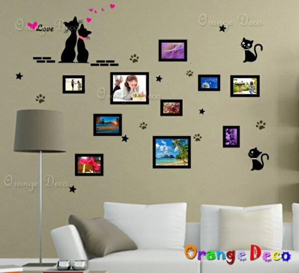 橘果設計:貓咪相框DIY組合壁貼牆貼壁紙無痕壁貼室內設計裝潢裝飾佈置【橘果設計】