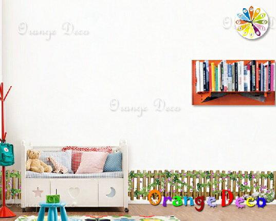 木柵欄 DIY組合壁貼 牆貼 壁紙 無痕壁貼 室內設計 裝潢 裝飾佈置【橘果設計】