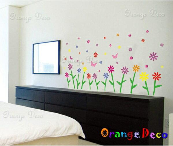 春花浪漫 DIY組合壁貼 牆貼 壁紙 無痕壁貼 室內設計 裝潢 裝飾佈置【橘果設計】