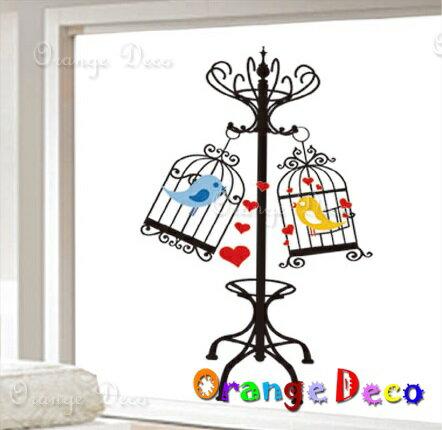 鳥籠 DIY組合壁貼 牆貼 壁紙 無痕壁貼 室內設計 裝潢 裝飾佈置【橘果設計】