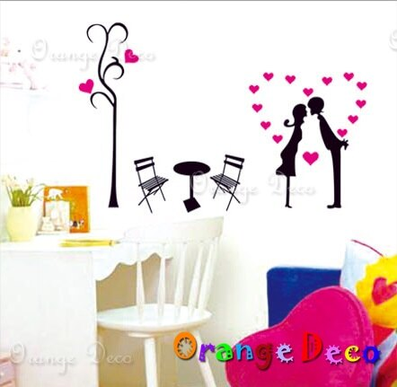 情侶桌 DIY組合壁貼 牆貼 壁紙 無痕壁貼 室內設計 裝潢 裝飾佈置【橘果設計】