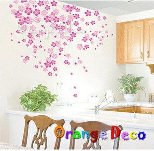 櫻花 DIY組合壁貼 牆貼 壁紙 無痕壁貼 室內設計 裝潢 裝飾佈置【橘果設計】