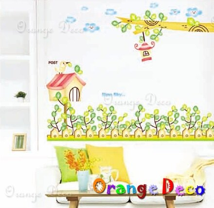 田園 DIY組合壁貼 牆貼 壁紙 無痕壁貼 室內設計 裝潢 裝飾佈置【橘果設計】