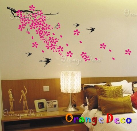 櫻花落燕 DIY組合壁貼 牆貼 壁紙 無痕壁貼 室內設計 裝潢 裝飾佈置【橘果設計】