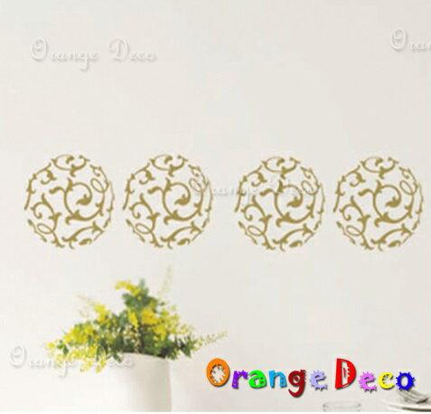 金色花紋 DIY組合壁貼 牆貼 壁紙 無痕壁貼 室內設計 裝潢 裝飾佈置【橘果設計】