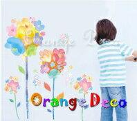油畫花卉 DIY組合壁貼 牆貼 壁紙 無痕壁貼 室內設計 裝潢 裝飾佈置【橘果設計】