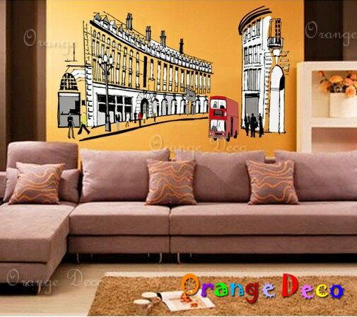 羅馬公車 DIY組合壁貼 牆貼 壁紙 無痕壁貼 室內設計 裝潢 裝飾佈置【橘果設計】