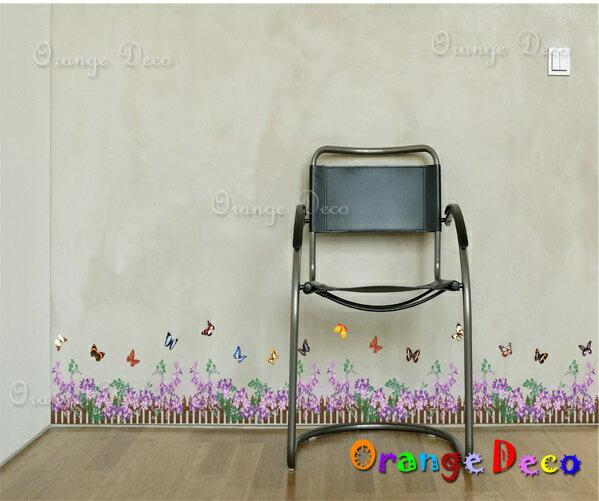 橘果設計:紫羅蘭DIY組合壁貼牆貼壁紙無痕壁貼室內設計裝潢裝飾佈置【橘果設計】