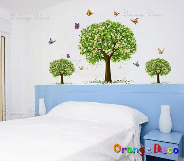 橘果設計:蝴蝶花樹DIY組合壁貼牆貼壁紙無痕壁貼室內設計裝潢裝飾佈置【橘果設計】