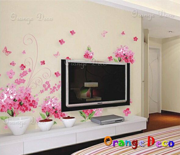 浪漫花海 DIY組合壁貼 牆貼 壁紙 無痕壁貼 室內設計 裝潢 裝飾佈置【橘果設計】