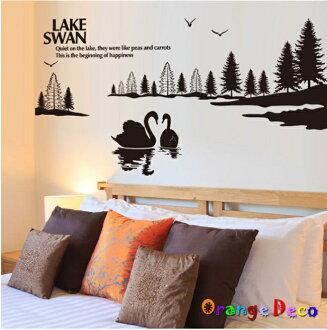 【橘果設計】山水畫 DIY組合壁貼 牆貼 壁紙 無痕壁貼 室內設計 裝潢 裝飾佈置