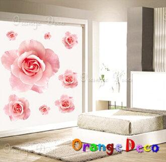 浪漫玫瑰 DIY組合壁貼 牆貼 壁紙 無痕壁貼 室內設計 裝潢 裝飾佈置【橘果設計】
