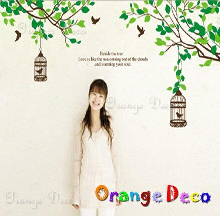 樹枝鳥籠 DIY組合壁貼 牆貼 壁紙 無痕壁貼 室內設計 裝潢 裝飾佈置【橘果設計】