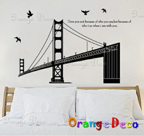 倫敦大橋 DIY組合壁貼 牆貼 壁紙 無痕壁貼 室內設計 裝潢 裝飾佈置【橘果設計】
