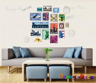 世界建築郵票 DIY組合壁貼 牆貼 壁紙 無痕壁貼 室內設計 裝潢 裝飾佈置【橘果設計】