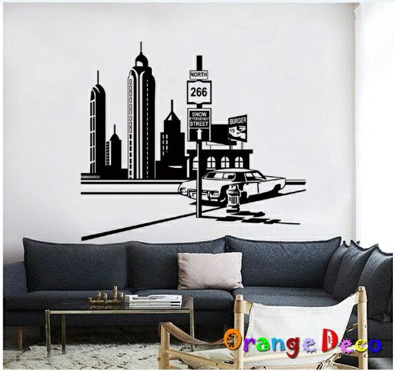 城市 DIY組合壁貼 牆貼 壁紙 無痕壁貼 室內設計 裝潢 裝飾佈置【橘果設計】