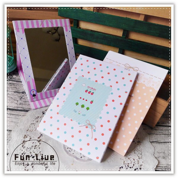 【aife life】韓系折疊化妝鏡/可立式化妝鏡/桌上型化妝鏡/隨身鏡/鏡子/A5化妝鏡/大鏡子/可蓋/掀式