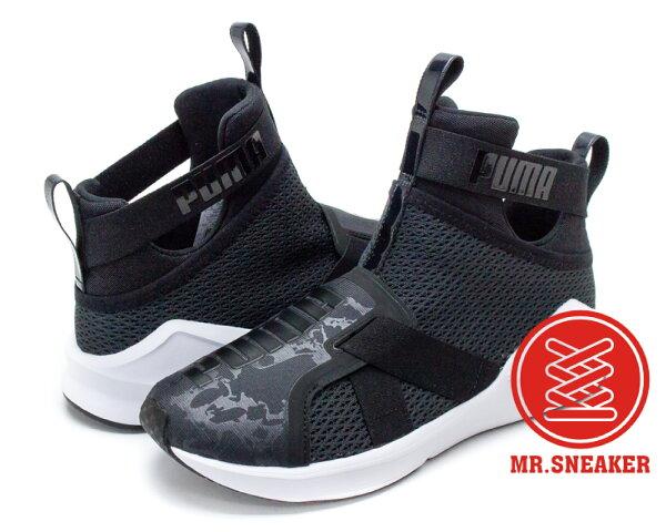 ☆Mr.Sneaker☆PumaFierceStrap室內訓練鞋RIHANNA高筒顯瘦黑色女鞋