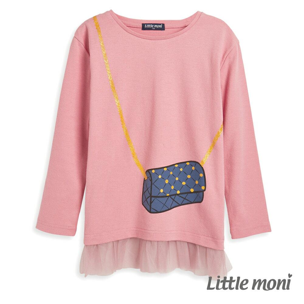 Little moni 網紗拼接上衣-粉紅(好窩生活節) - 限時優惠好康折扣