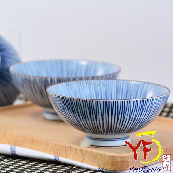★堯峰陶瓷★日本美濃燒 中平碗 十草線條 飯碗