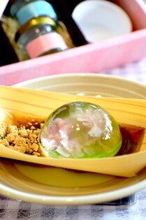 雨滴櫻花(水信玄餅禮盒6入裝)日本八重櫻的獻禮低卡美麗口感清爽