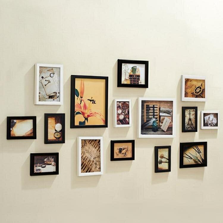 景宇 客廳懸掛15框照片牆相框牆組合 臥室復古創意相片牆歐式掛牆YTL 全館特惠9折