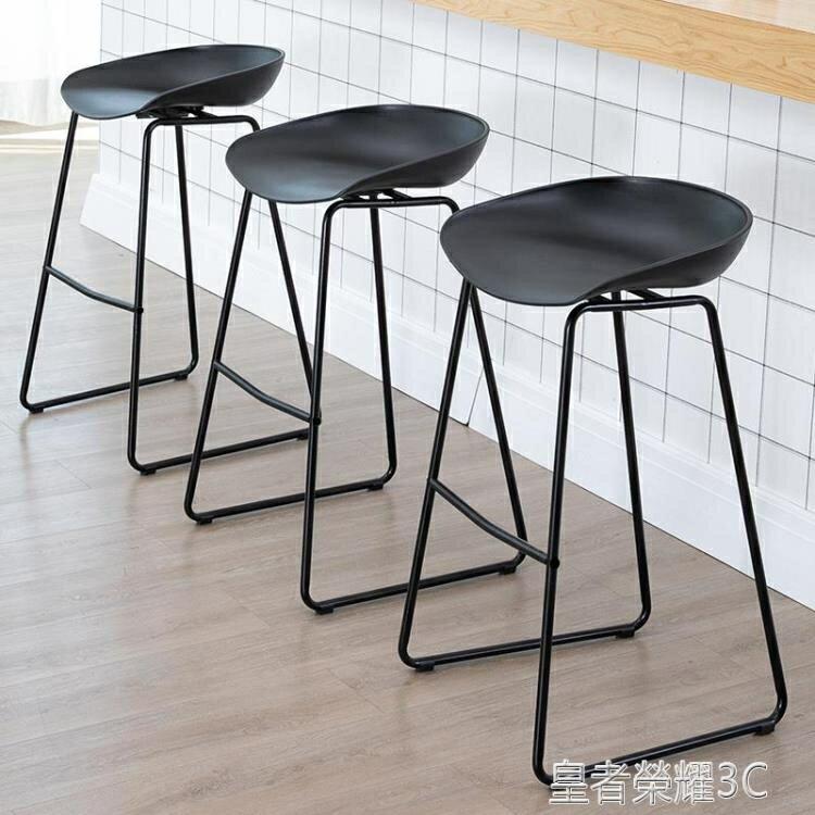 吧臺椅鐵藝吧臺椅家用現代簡約北歐高椅子咖啡廳高腳椅前臺奶茶店酒吧凳YTL 全館特惠9折