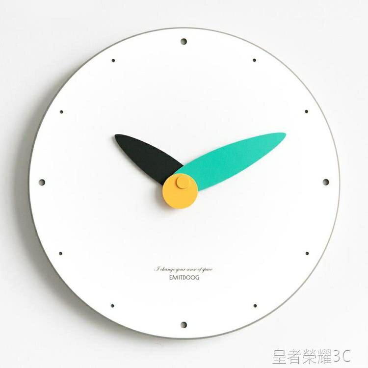 掛鐘Aniok 簡約現代鐘表創意個性掛鐘家用客廳臥室辦公室靜音北歐壁鐘YTL 全館特惠9折