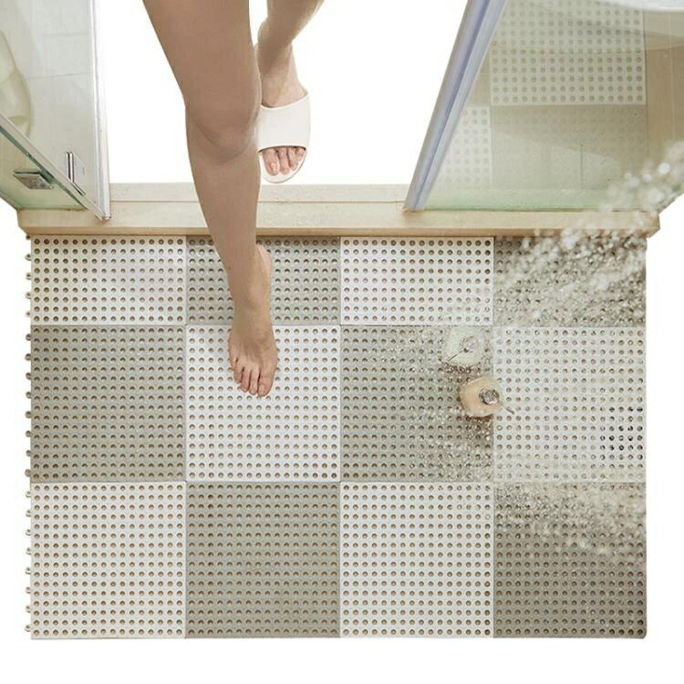 浴室防滑墊淋浴房洗澡隔水墊子家用防摔拼接洗手間廁所衛生間地墊 全館特惠9折