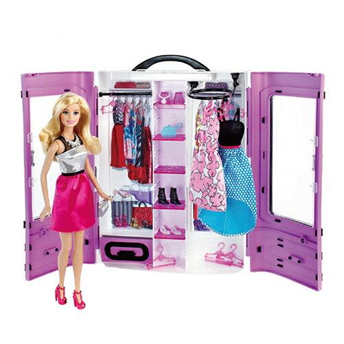 《 MATTEL 》芭比閃亮造型衣櫃組