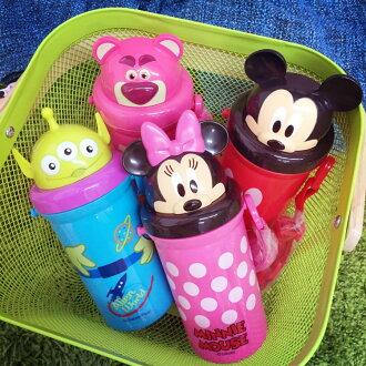 PGS7 (現貨+預購) 迪士尼系列商品 - 迪士尼 頭型 造型 水壺 米奇 米妮 熊抱哥 三眼怪 玩具總動員 兒童