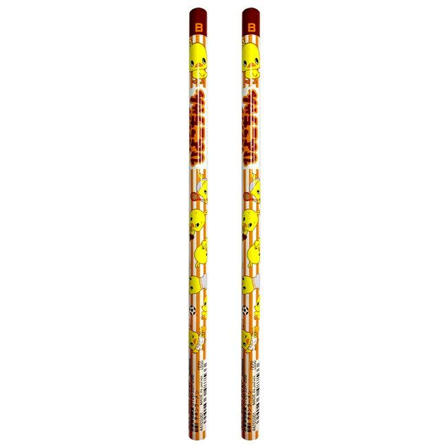 【日本正版】日清小雞 B鉛筆 2入組 日本製 鉛筆 圓軸鉛筆 日清食品 日本正版 - 487533