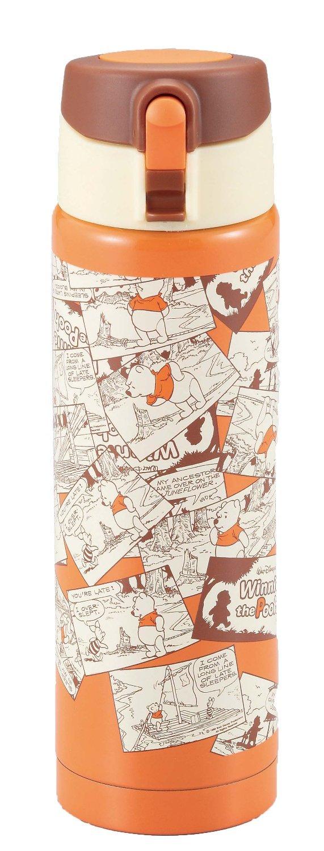 X射線【C420777】維尼不鏽鋼瓶(橘)500ml,隨手瓶/保溫杯/直飲式水壺/保冷保溫/環保/小熊維尼/迪士尼