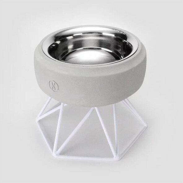 SPUTNIK 寵物碗架 Cozy Cement Bowl - 白水泥+白架(M1) Pet's Talk 2