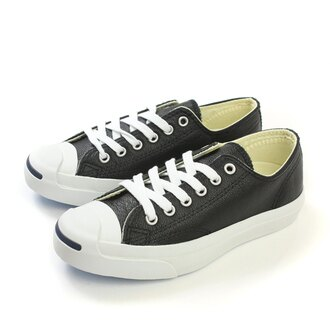 CONVERSE JCK PURC LEA OX BLK/WHITE 休閒鞋 黑 男女款 no943
