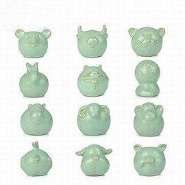 【茶寵-十二生肖-汝瓷-寬約7*高約6cm-1個/組】開片汝瓷茶寵 可養茶道功夫茶具套裝配件茶玩擺件,多款可選-7501015