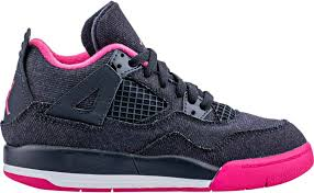 NIKE AIR JORDAN 4 RETRO DENIM GP 黑 桃粉 大童鞋 女鞋 US 13 487725-408 J倉