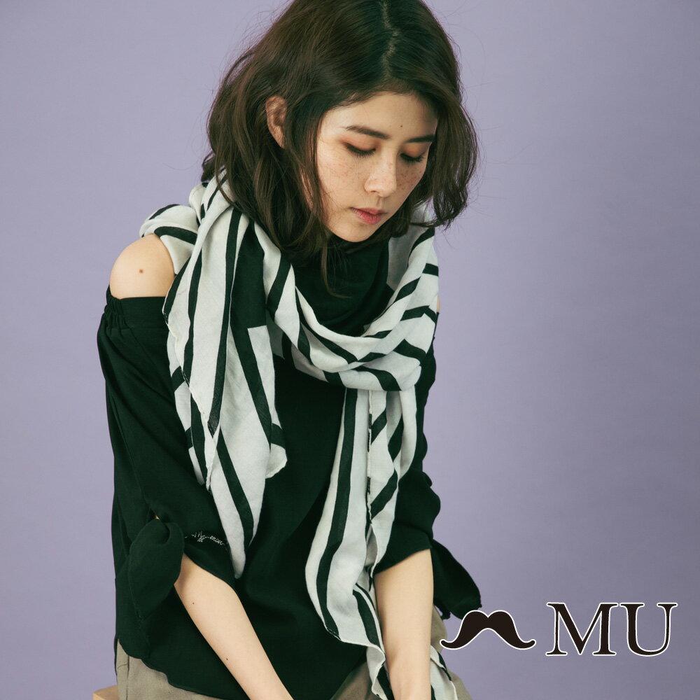 【MU】一字領袖子綁結上衣(2色)8323161 5