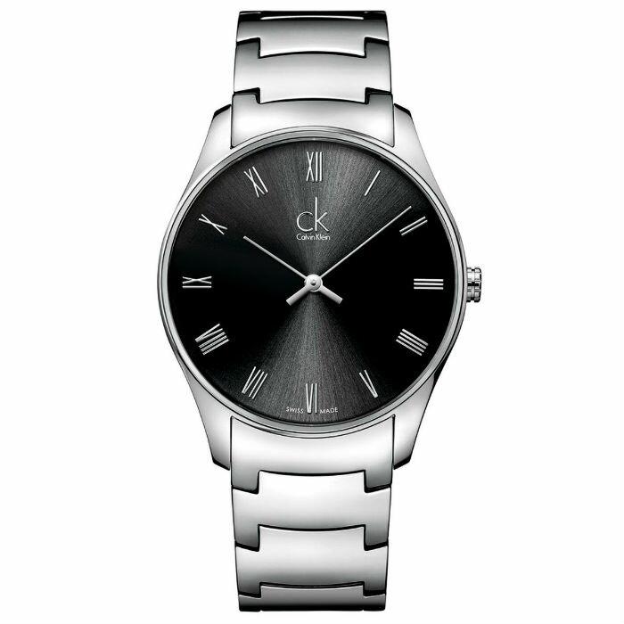 CK 經典系列(K4D2114Y)簡約風潮時尚腕錶/黑面38mm