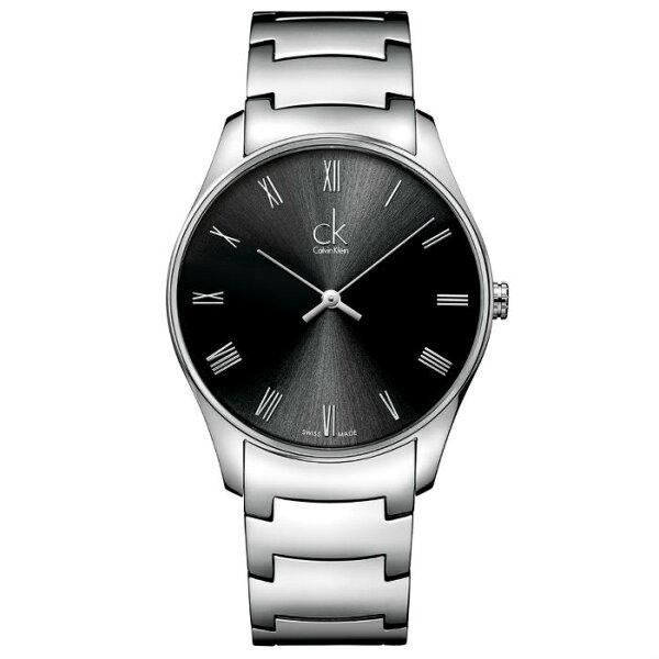 CK經典系列(K4D2114Y)簡約風潮時尚腕錶黑面38mm