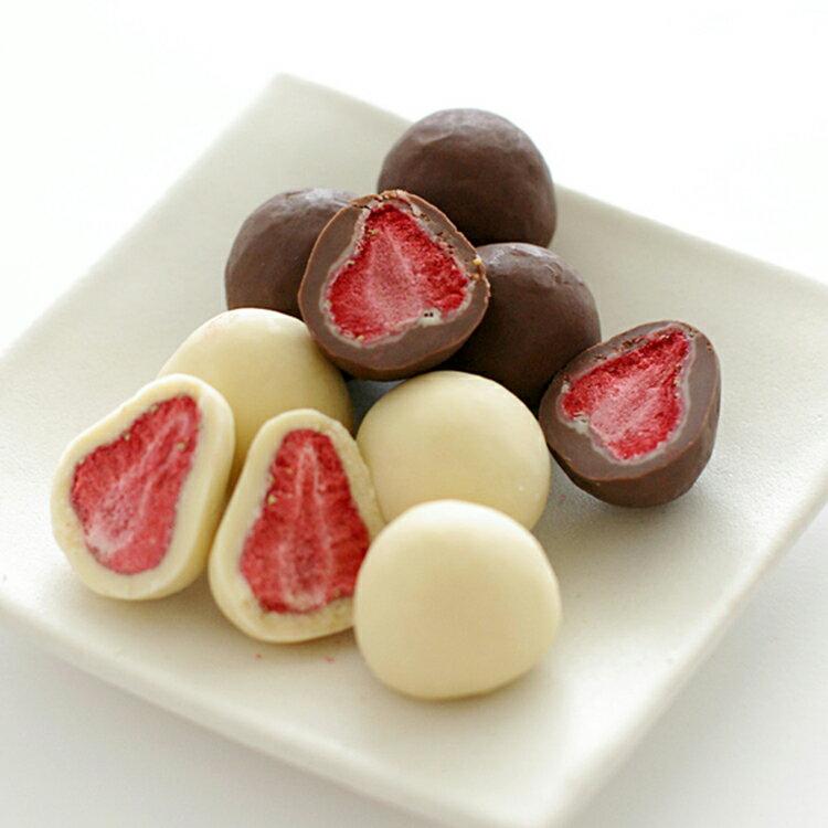 日本直送 北海道 六花亭 草莓巧克力兩種口味組(草莓白巧克力/草莓牛奶黑巧克力各1盒) (冷藏配送)