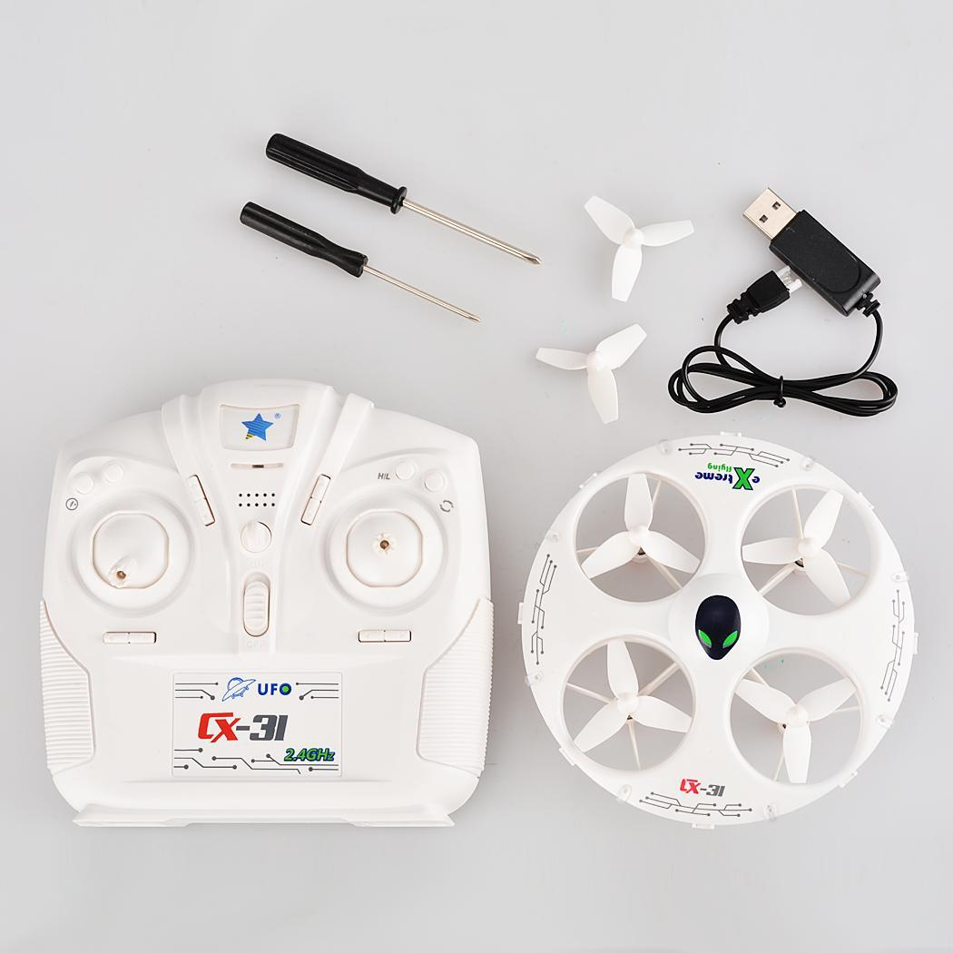 White Cheerson CX-31 2.4G 4CH 6Axis Eversion Headless RC Quadcopter Drone 5