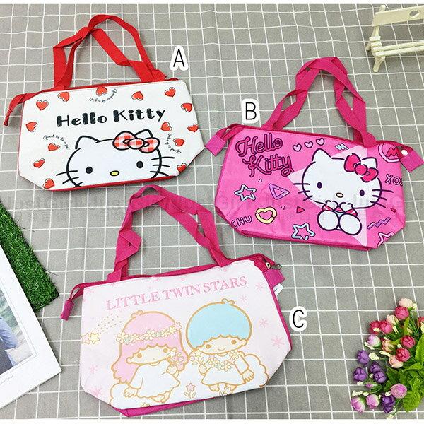 三麗鷗KITTY雙子星保冷袋保溫袋手提袋便當袋配件正版日本授權JustGirl