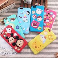 小熊維尼周邊商品推薦【Disney】迪士尼iPhone 6 Plus / 6S Plus TsumTsum 5.5立體PU皮革保護殼