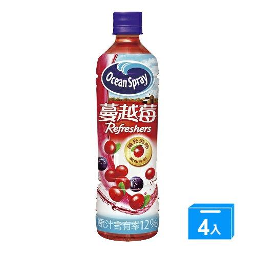 優鮮沛蔓越莓綜合果汁500ml*4入【愛買】