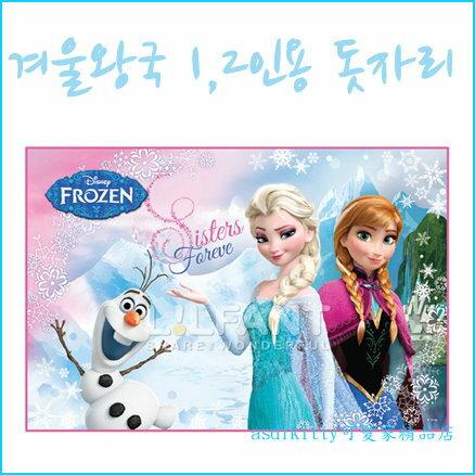 asdfkitty可愛家☆迪士尼冰雪奇緣野餐墊-90*60公分-防水材質-韓國正版商品