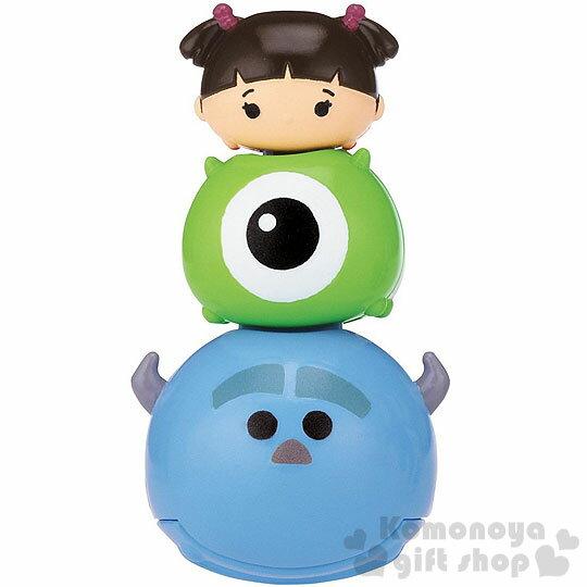 〔小禮堂〕迪士尼 TSUM TSUM 音控搖擺玩具《小.藍.毛怪.朋友堆疊》