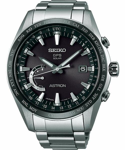 Seiko Astron 8X22-0AG0D(SSE085J1)太陽能GPS對時鈦金屬腕錶/黑面44.8mm